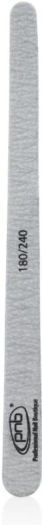 Пилка для ногтей 180/240 Grey Wood, каплевидная - PNB