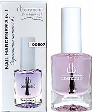 """Духи, Парфюмерия, косметика Средство для ногтей """" Уплотнитель ногтей 3 в 1"""" - Dark Blue Cosmetics Prof Line Nail Hardener 3 in 1"""