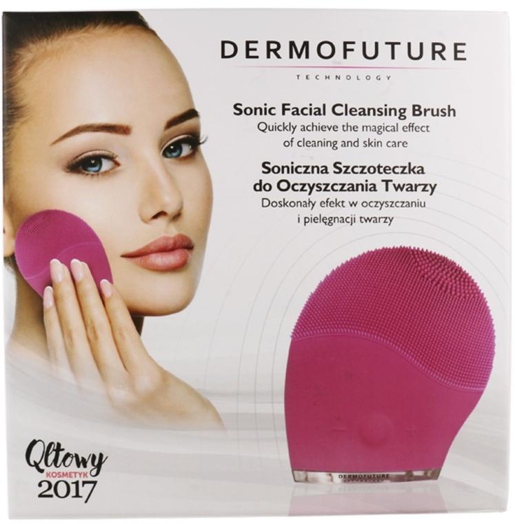 Звуковая щетка для очищения лица, розовая - Dermofuture Sonic Facial Cleansing Brush
