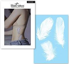 Духи, Парфюмерия, косметика Переводные тату - Miami Tattoos White Feathers