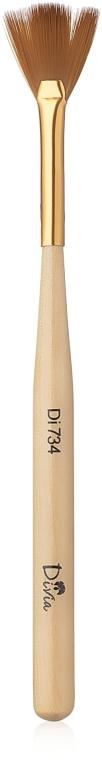 Кисть веерная для дизайна ногтей, Di734 - Divia