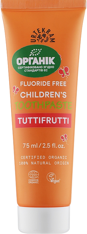 "Детская зубная паста ""Тутти-Фрутти"" - Urtekram Childrens Toothpaste Tuttifrutti"