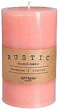 Духи, Парфюмерия, косметика Ароматическая свеча, 7х11,5 см., розовая - Artman Rustic