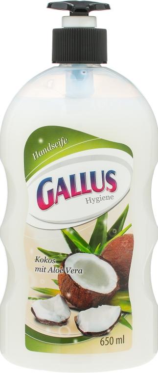 """Жидкое мыло для рук """"Кокос и Алоэ Вера"""" - Gallus Kokos & Aloe Vera"""