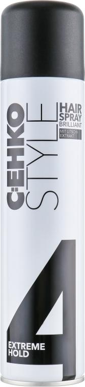 """Лак для волос """"Бриллиант"""" c экстрактом личи, суперсильная фиксация - C:EHKO Style Hairspray Brilliant (4)"""