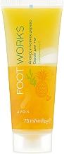 "Духи, Парфюмерия, косметика Скраб для ног ""Чайное дерево и ананас"" - Avon Foot Works Pineapple And Tea Tree Foot Scrub"