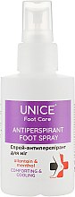 Духи, Парфюмерия, косметика Спрей-антиперспирант для ног - Unice Foot Care Antiperspirant Foot Spray