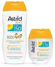 Духи, Парфюмерия, косметика Набор - Astrid Sun Kids Milk (b/milk/200 + b/milk/80ml)