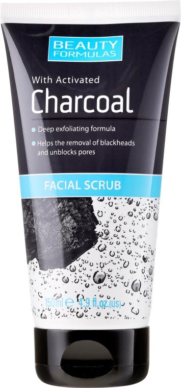 Скраб для глубокого очищения кожи лица - Beauty Formulas Charcoal Facial Scrub