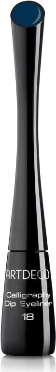 Изысканная подводка для глаз с каллиграфической кисточкой - Artdeco Calligraphy Dip Eyeliner