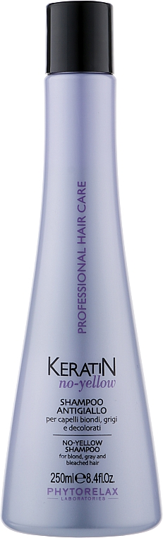 Антижелтый шампунь для светлых волос - Phytorelax Laboratories Keratin No-Yellow Shampoo