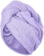 Духи, Парфюмерия, косметика Полотенце-тюрбан для сушки волос, лиловое - Makeup