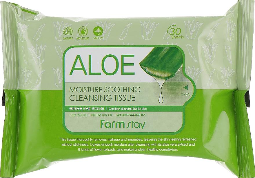 Салфетки для очищения с алоэ - FarmStay Aloe Moisture Soothing Cleansing Tissue