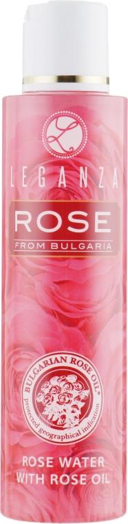Розовая вода с розовым маслом - Leganza Rose Water With Rose Oil