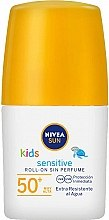 Духи, Парфюмерия, косметика Солнцезащитный шариковый лосьон для детей - Nivea Sun Kids Protect & Sensitive Roll-on SPF50