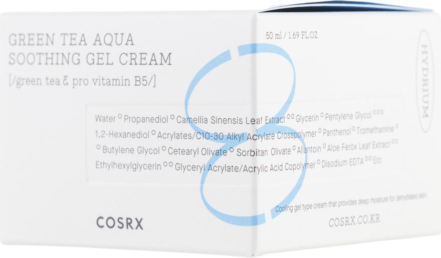 Успокаивающий гель-крем для лица - Cosrx Hydrium Green Tea Aqua Soothing Gel Cream