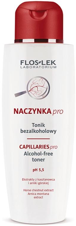 Тоник с экстрактом конского каштана - Floslek Dilated Capillaries Line Alcohol-Free Toner pH 5,5