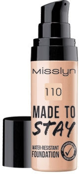 Тональный крем - Misslyn Made To Stay Water-Resistant Foundation