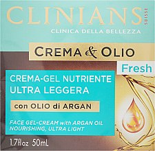 Духи, Парфюмерия, косметика Крем-гель для лица, питательный - Clinians Crema & Olio Fresh Face Gel-Cream