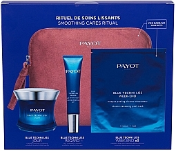 Духи, Парфюмерия, косметика Набор - Payot Blue Techni Liss Smoothing Cares Ritual (f/cr/50ml + eye/cr/15ml + mask/3pcs + bag)