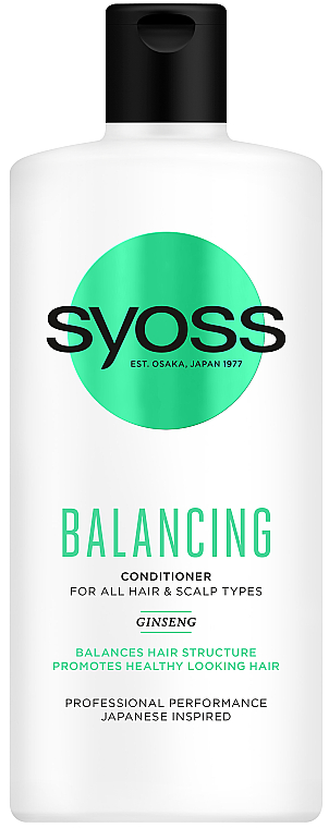 Бальзам с женьшенем для всех типов волос и кожи головы - Syoss Balancing Ginseng Conditioner