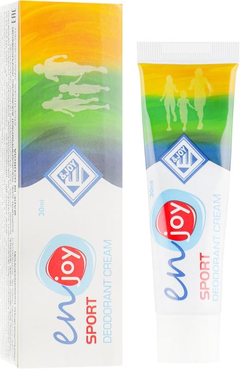 Эко-крем-дезодорант - Enjoy & Joy Sport Deodorant Cream (туба)