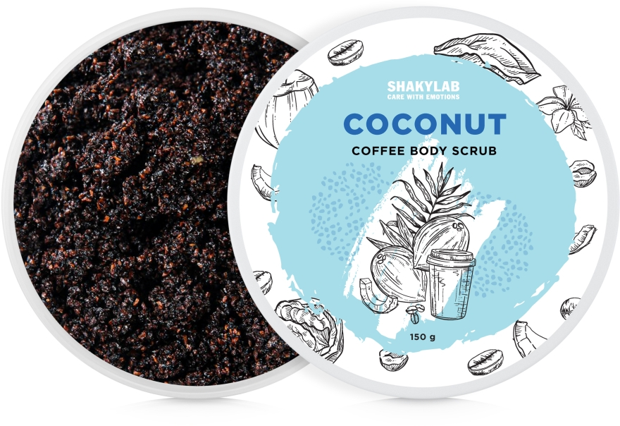 "Кофейный скраб для тела ""Coconut"" - SHAKYLAB Coffee Scrub Coconut"