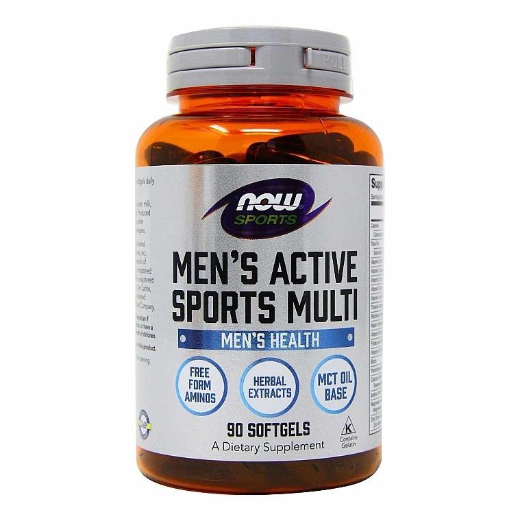 Витамины для мужчин, капсулы - Now Foods Men's Active Sports Multi Softgels