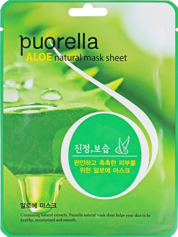 Тканевая маска для лица с алоэ - Puorella Aloe Natural Mask Sheet