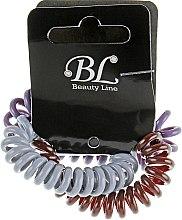 Духи, Парфюмерия, косметика Набор резинок для волос, 405004, серая+коричневая+фиолетовая - Beauty Line