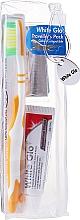 Духи, Парфюмерия, косметика Дорожный набор для гигиены полости рта, оранжевый - White Glo Travel Pack (t/paste/24g + t/brush/1 + t/pick/8)