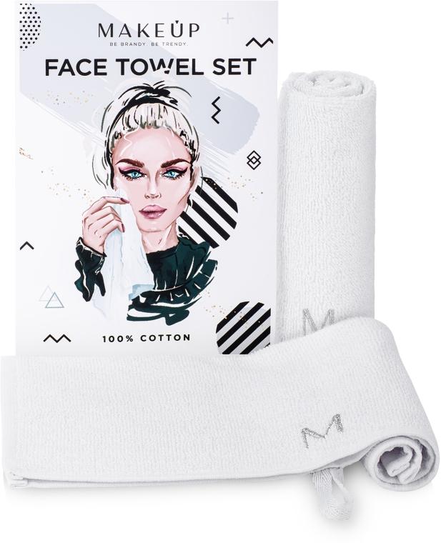 """Дорожный набор полотенец для лица, белые """"MakeTravel"""" - Makeup Face Towel Set"""