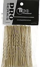 Духи, Парфюмерия, косметика Шпильки для волос волнистые с наконечником 70мм, золотистые - Tico Professional