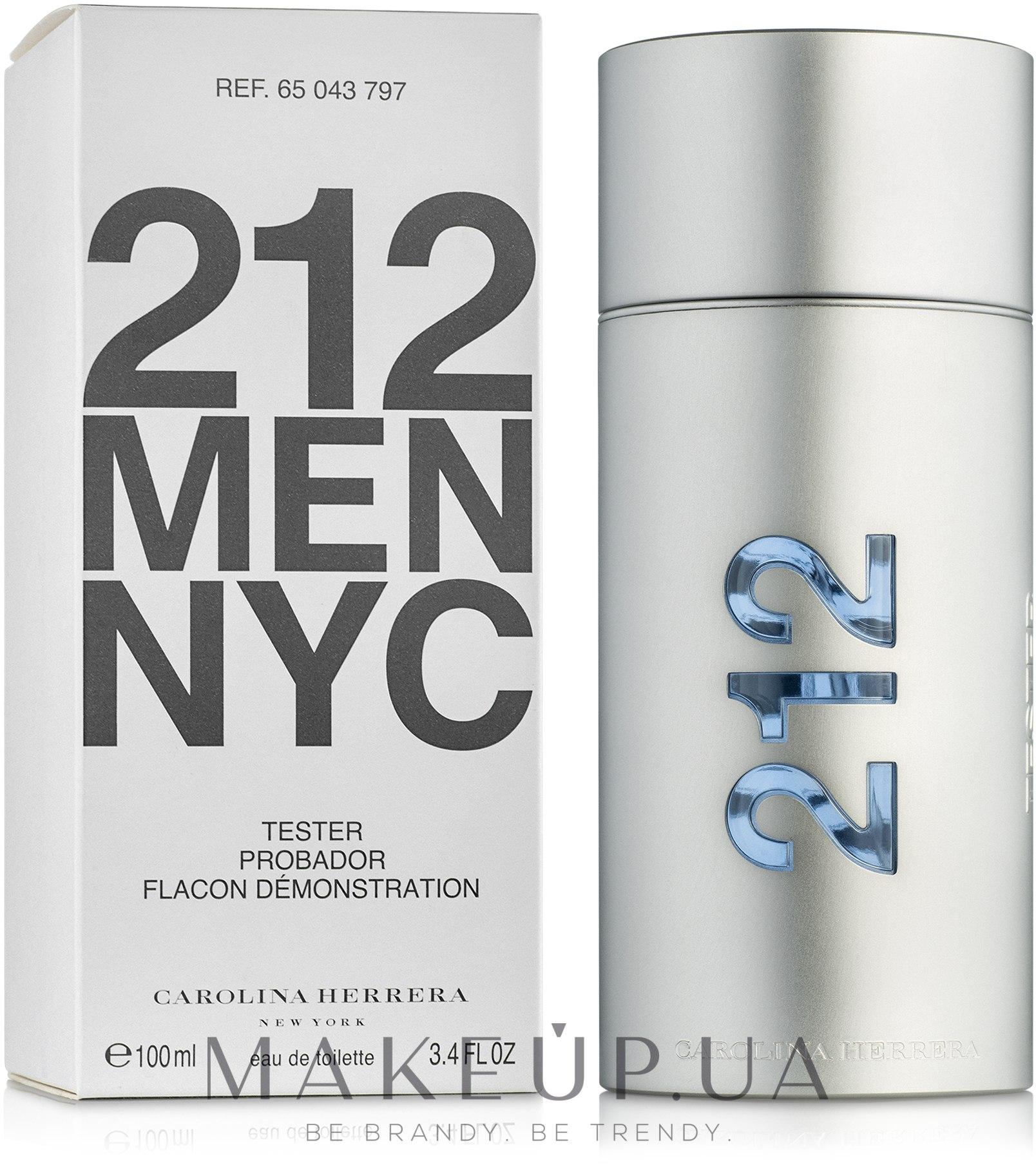 Carolina Herrera 212 Men NYC - Туалетная вода (тестер с крышечкой) — фото 100ml