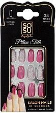 Духи, Парфюмерия, косметика Набор накладных ногтей - Sosu by SJ False Nails Medium Balerina Pillow Talk