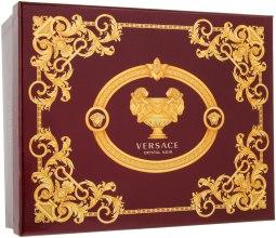 Духи, Парфюмерия, косметика Versace Crystal Noir - Набор (edt/50ml + b/lotion/50ml + sh/gel /50ml)
