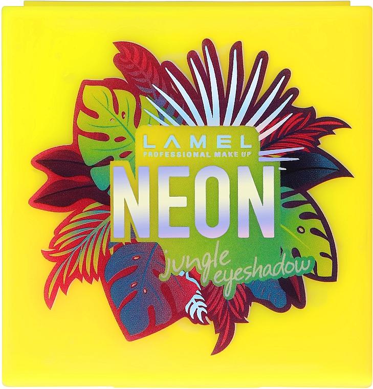 Стойкие неоновые тени для век - Lamel Professional Neon Eyeshadow (тестер)