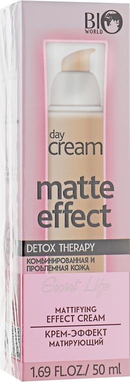 Крем-эффект матирующий - Bio World Secret Life Detox Therapy Matte Effect Day Cream