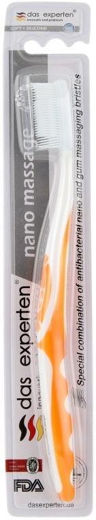 "Зубная щетка ""Нано массаж"", мягкая, оранжевая - Das Experten Nano massage"