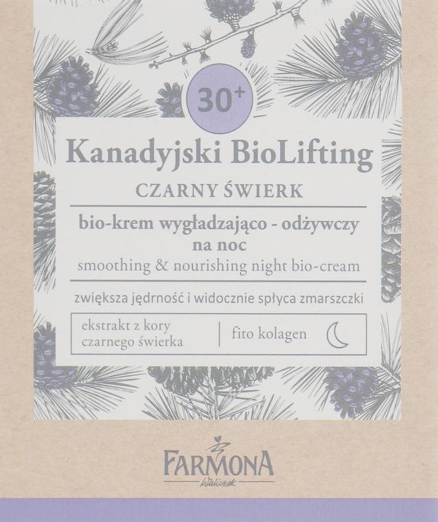 Разглаживающий питательный ночной крем 30+ - Farmona Canadian BioLifting Black Spruce