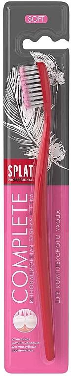 Зубная щетка Professional Complete Soft, мягкая вишневая 2 - SPLAT