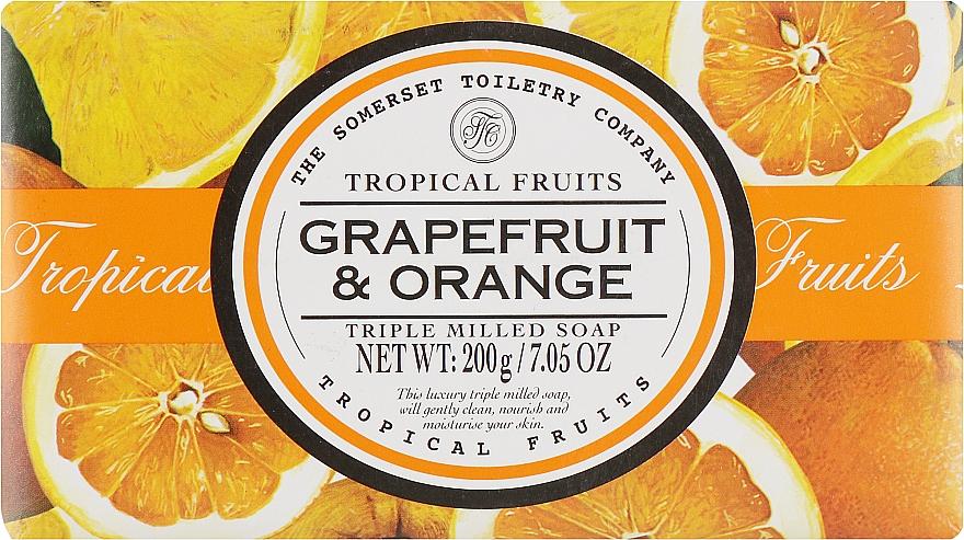 "Мыло ""Грейпфрут и апельсин"" - The Somerset Toiletry Co. Tropical Fruits Soap — фото N1"