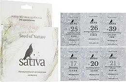 Духи, Парфюмерия, косметика РАСПРОДАЖА Набор пробников для зрелой кожи №2 - Sativa Everday The Seed Of Nature (cr/1.5mlx6)