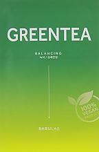 Духи, Парфюмерия, косметика Увлажняющая тканевая маска с зеленым чаем - Barulab The Clean Vegan Green Tea Mask