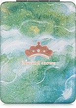 """Духи, Парфюмерия, косметика Зеркало косметическое прямоугольное, """"Imperial Crown"""", зеленое - Lily Cosmetics"""