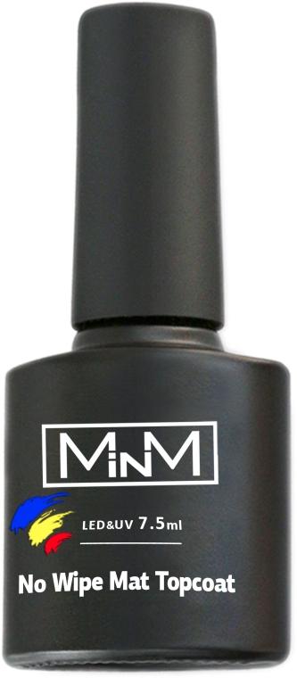 Матовый топ для гель-лаков без липкого слоя - M-in-M No Wipe Matte Top Coat