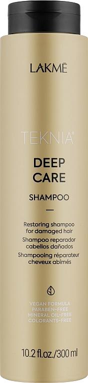 Восстанавливающий шампунь для поврежденных волос - Lakme Teknia Deep Care Shampoo