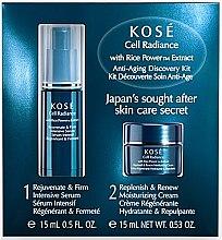Духи, Парфюмерия, косметика Набор - KOSE Rice Power Extract Cell Radiance Anti-Aging Discovery Kit (cr/15ml+serum/15ml)