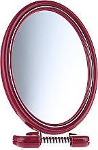 Духи, Парфюмерия, косметика Зеркало двустороннее овальное на подставке, 9505, 11x15 см, бордовое - Donegal Mirror