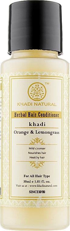 """Аюрведический бальзам-кондиционер для волос """"Апельсин и лемонграсс"""" - Khadi Natural Herbal Orange & Lemongrass Hair Conditioner"""